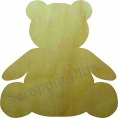 Wooden Teddy Bear Shape - Click Image to Close Wooden Monogram, Wooden Letters, Acrylic Craft Paint, Wood Animal, Wooden Shapes, Wood Crafts, Craft Supplies, Teddy Bear, Painting