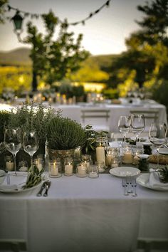 The Perfect Romantic Italian Garden Dinner Party This is it, the most beautiful wedding. I want everything about this venue and place settings and herbs HERBS! I'm dead. Everything's perfect (apart from the dresses, but I can deal with that) Deco Champetre, Black Bridesmaid Dresses, Black Bridesmaids, Wedding Dresses, Tuscan Wedding, Rustic Italian Wedding, European Wedding, Italian Garden, Wedding Table Decorations