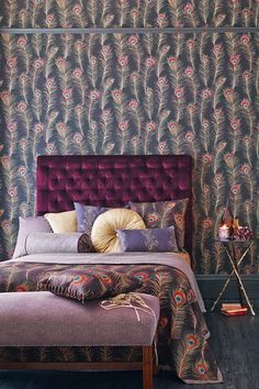 Peacock Pretty - Bedroom Design Ideas & Pictures – Decorating Ideas (houseandgarden.co.uk)