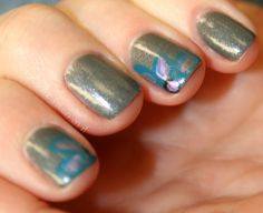 put some polish on it - china glaze with corner flowers