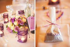 Wedding table decoration purple  Hochzeitsdeko lila