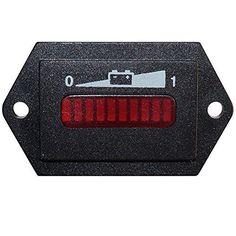 Searon 12V 24V Volt LED Battery Indicator Charge Status Power Monitor Meter Gauge Golf Cart Club Car EZGO