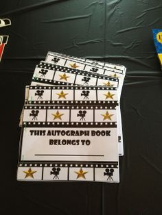 Autograph books - kids sign each other's? Diva Birthday Parties, Hollywood Birthday Parties, Graduation Theme, Preschool Graduation, Hollywood Divas, Hollywood Theme, Movie Star Party, Cute Birthday Ideas, Glamour Party
