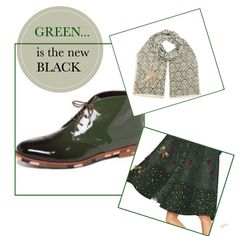 "Attilio Giusti Leombruni@Van Weertt chaussures & accessoires "" green is the new black"""