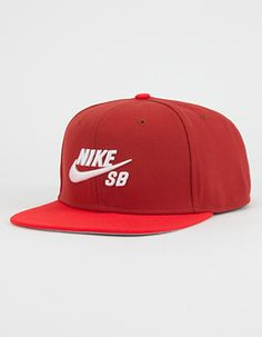 NIKE SB Icon Pro Mens Snapback Hat Red