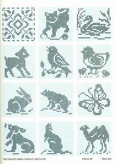ru / Photo # 46 - Different animals (scheme) - Olgakam Cross Stitch Bird, Cross Stitch Borders, Cross Stitch Animals, Cross Stitching, Cross Stitch Patterns, Knitting Stiches, Knitting Charts, Knitting Patterns, Crochet Cross