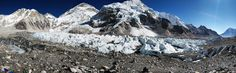 Everest Base Camp Panorama Khumjung Nepal [8062  2498][OC]