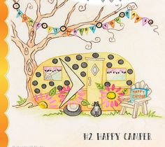 Salem Quilt Guild Campout Happy Camper sewing pattern from Crabapple Hill Designs Embroidery Patterns, Hand Embroidery, Quilt Patterns, Sewing Patterns, Crochet Patterns, Halloween Quilts, Halloween Fun, Witch Quilt, Crabapple Hill