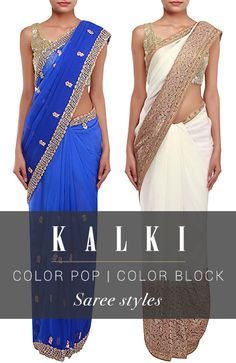 This summer, choose from our collection of light-weight and airy yet absolutely elegant sarees.We ship worldwide (Free shipping over USD$100). To buy this product, click on the following link -  http://www.kalkifashion.com/sarees/chiffon-sarees.html