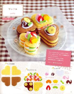 Playing with Felt Food Japanese craft book by MeMeCraftwork