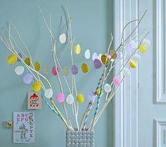 Eier - Girlande aus Papier
