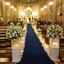 Ideas for decorating the church on your wedding day- Idee per decorare la chiesa il giorno delle nozze Ideas for decorating the church on your wedding day - Wedding Walkway, Wedding Church Aisle, Church Wedding Flowers, Wedding Day, Church Aisle Decorations, Wedding Ceremony Decorations, Wedding Arrangements, Wedding Chairs, Blog