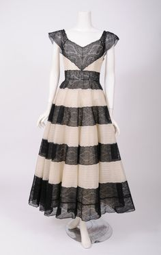 Jean Patou 1930's Lace & Tulle Evening Dress | From a collection of rare vintage evening dresses at http://www.1stdibs.com/fashion/clothing/evening-dresses/