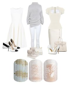 """Jamberry - Favorite Color - White"" by kspantongroup on Polyvore featuring ADAM, Boohoo, Miss Selfridge, Dolce&Gabbana, STELLA McCARTNEY, J/Slides, MaxMara, Roland Mouret, Hermès and Michael Antonio"