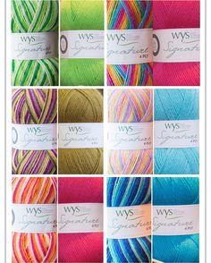 Now available in my shop (link in profile) - West Yorkshire Spinners Signature 4ply Cocktail and 'Mixers' duos. I'm thinking lovely stripey/multicoloured shawls with a block colour edging... #westyorkshirespinners #wyspinners #wys #signature4ply #cocktailrange #britishwoolblend #britishwool #4ply #sockyarn #sockwool #knittedsocks #knitting #knittedshawl #crochet #crochetedsocks #crochetedshawls #crochetshawl by hookawoolly