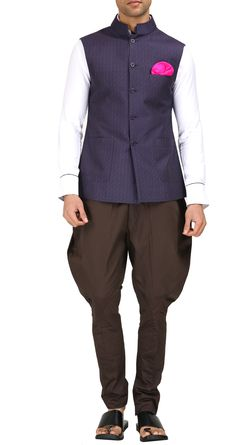 Brown cotton breeches by RAGHAVENDRA RATHORE. Shop at https://www.perniaspopupshop.com/mens-shop/raghavendra-rathore-3982