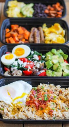20 Healthy Meal Prep Bowls To Make Your Life Stress Free Lunch Meal Prep, Meal Prep Bowls, Healthy Meal Prep, Dinner Healthy, Clean Dinner Recipes, Lunch Recipes, Breakfast Recipes, Mexican Breakfast, Breakfast Healthy