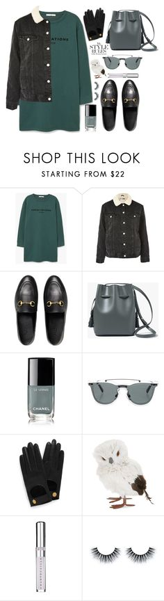 """style"" by lena-volodivchyk ❤ liked on Polyvore featuring MANGO, Topshop, Gucci, Chanel, Valentino, Mulberry, GlucksteinHome and Chantecaille"