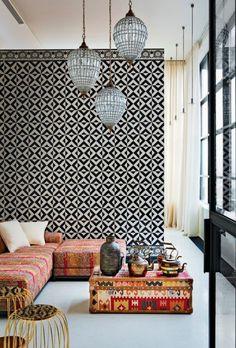 murs colorés dans le salon