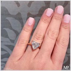 Spreading the love! Featuring our Royal Setting in rose gold with a carat heart shape diamond ❤️ Traditional Engagement Rings, Best Engagement Rings, Solitaire Setting, Heart Shaped Diamond, 18k Rose Gold, Heart Shapes, Heart Ring, Jewelry, Wedding