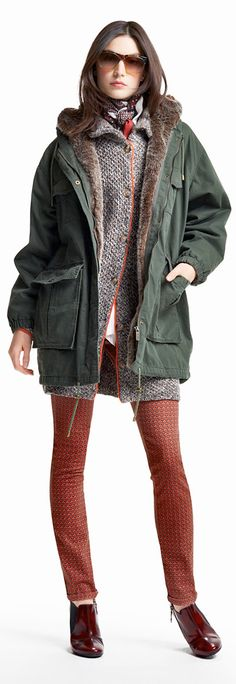 Tommy Hilfiger FW13 Michelle Lined Parka, Milan Printed Jeans