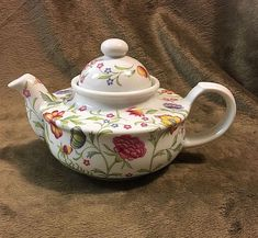 "TOSCANY ""AVIGNON"" FLORAL Fine China Teapot Tea Pot"