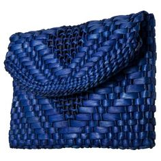 Target : Blue Straw Clutch : Image Zoom