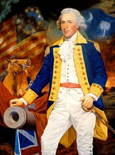 Revolutionary War Hero, General Francis Marion, the Swamp Fox, born in Berkeley County, SC. American Revolutionary War, Native American History, Early American, American Civil War, Us History, Women In History, Titanic History, British History, Ancient History