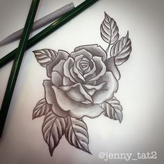 LOVE this rose for a tattoo!