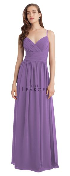 d80e69f66a Bill Levkoff Spring 2015 bridesmaid Dress Style This spaghetti strap dress  features beautiful sweetheart pleated bodice with wide ruched cummerbund  accents ...
