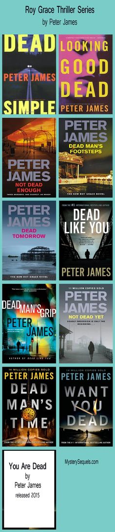 Roy Grace thriller series by Peter James