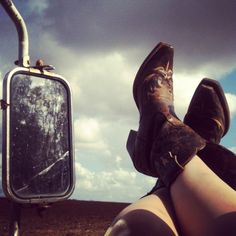 Country girl life! **I have a pic of me like this! LOL