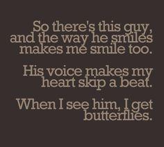#makesmesmile #heartskipsabeat #givesmebutterflies