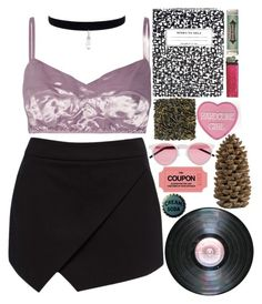 """""""Hun"""" by zannaxx ❤ liked on Polyvore featuring Marc Jacobs, Forever New, Kate Spade, Miss Bibi, Illesteva, Crate and Barrel, 90, women and Babe"""