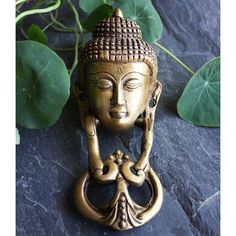 Vintage Brass Buddha Door Knocker, Hand Crafted Door Knocker, Brass Decor, Face of Buddha, Brass Buddha, Tibetan Door Knocker, Home Decor by TIWcompany on Etsy https://www.etsy.com/listing/491066308/vintage-brass-buddha-door-knocker-hand