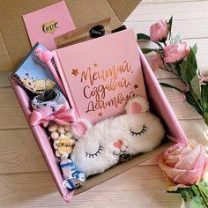 Cute Birthday Gift, Birthday Box, Friend Birthday Gifts, Girly Gifts, Cute Gifts, Personalised Gifts Diy, Sleepover Birthday Parties, Gift Box Design, Diy Gift Box