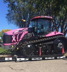Pink Challenger mT875C Big Tractors, Down On The Farm, Heavy Equipment, Breast Cancer Awareness, Caterpillar, Farm Life, Farming, 4x4, North America