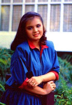 Ju lie Pearl Apostol Postigo, who is better known by her screen name Julie Vega (May 1968 – May was a popular and well-loved. Better Love, Faces, Pearl, Victorian, Celebs, Popular, Cute, Celebrities, Bead