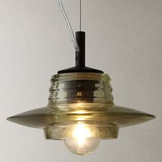 Tom Dixon Pressed Glass Lens Pendant - love his slightly maverick designs