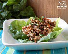 thai lettuce wraps (ground pork or chicken)