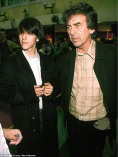 Dhani and dad George (: