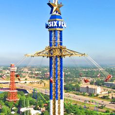 Record-breaking Texas SkyScreamer at Six Flags Over Texas - World's tallest swing ride, standing 400 feet tall. http://content.sixflags.com/newfor2013/overtexas/texas-skyscreamer/