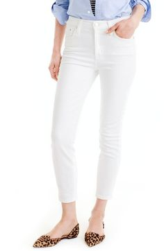 Free shipping and returns on J.Crew Lookout High Waist Crop Jeans (Regular & Petite) at Nordstrom.com. A toothpick skinny + a higher rise = a nipped waist, great stretch and legs for miles, even without heels. Add in the fact that this pair is made from premium Turkish cotton with serious slimming power and you have one major pair of jeans.
