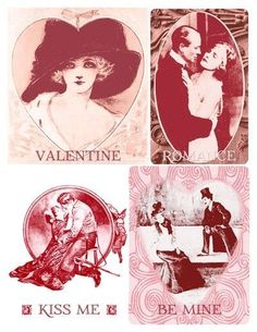 4 free vintage valentine printables... :) / Papercraft - Juxtapost