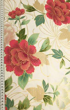 Japanese Patterns, Japanese Fabric, Brocade Fabric, Floral Fabric, Peony Drawing, Japanese Background, Japanese Drawings, Japanese Symbol, Peony Print