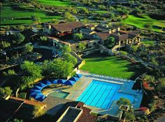 The Clubhouse at DC Ranch in Scottsdale, Arizona. A planned community. DC Ranch is made up of 25 neighborhoods within four residential villages, each village has an architectural scheme and character.