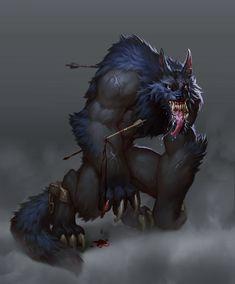 werewolf dude by Saikono on DeviantArt Creature Concept Art, Creature Design, Fantasy Creatures, Mythical Creatures, Dragons, Character Art, Character Design, Werewolf Art, Beast Creature