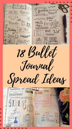 Bullet journal page spread and bujo layout ideas to give you inspiration for your own journaling, complete with a video flip through #bulletjournal #bujo - Kerrymay._.Makes