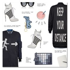 """""""KEEP YOUR DISTANCE"""" by larissa-takahassi ❤ liked on Polyvore featuring Dsquared2, Anya Hindmarch, Thierry Lasry and Old Navy"""