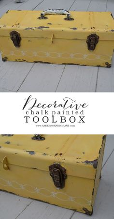 Painted and repurposed toolbox